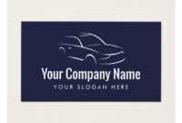 Automotive Car Company Logo Business Card Template | Zazzle with regard to Automotive Business Card Templates
