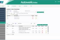 Automotive Workshop Management Software – Autowork Online intended for Mechanics Job Card Template