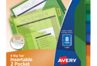 Avery® Big Tab Plastic Insertable Dividers – 8 Print-On Tab with regard to 8 Tab Divider Template Word