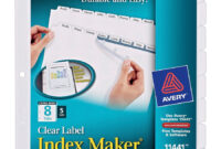 Avery® Index Maker Extra-Wide Print & Apply Clear Label intended for 8 Tab Divider Template Word