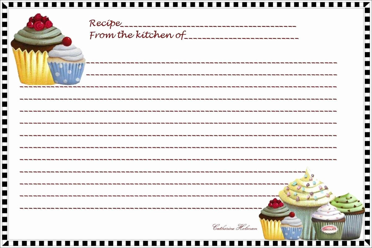 Avery Recipe Card Template Best Of Fillable Recipe Card Within Fillable Recipe Card Template