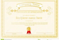 Award Certificate Frame Template Design Vector Stock Vector regarding Award Certificate Design Template