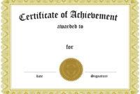 Award Certificate Template Certificate Templates Best Free regarding Free Certificate Of Excellence Template