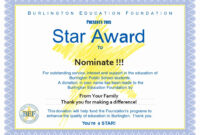 Award Certificate Template Free Fresh Star Awards Burlington with Star Certificate Templates Free