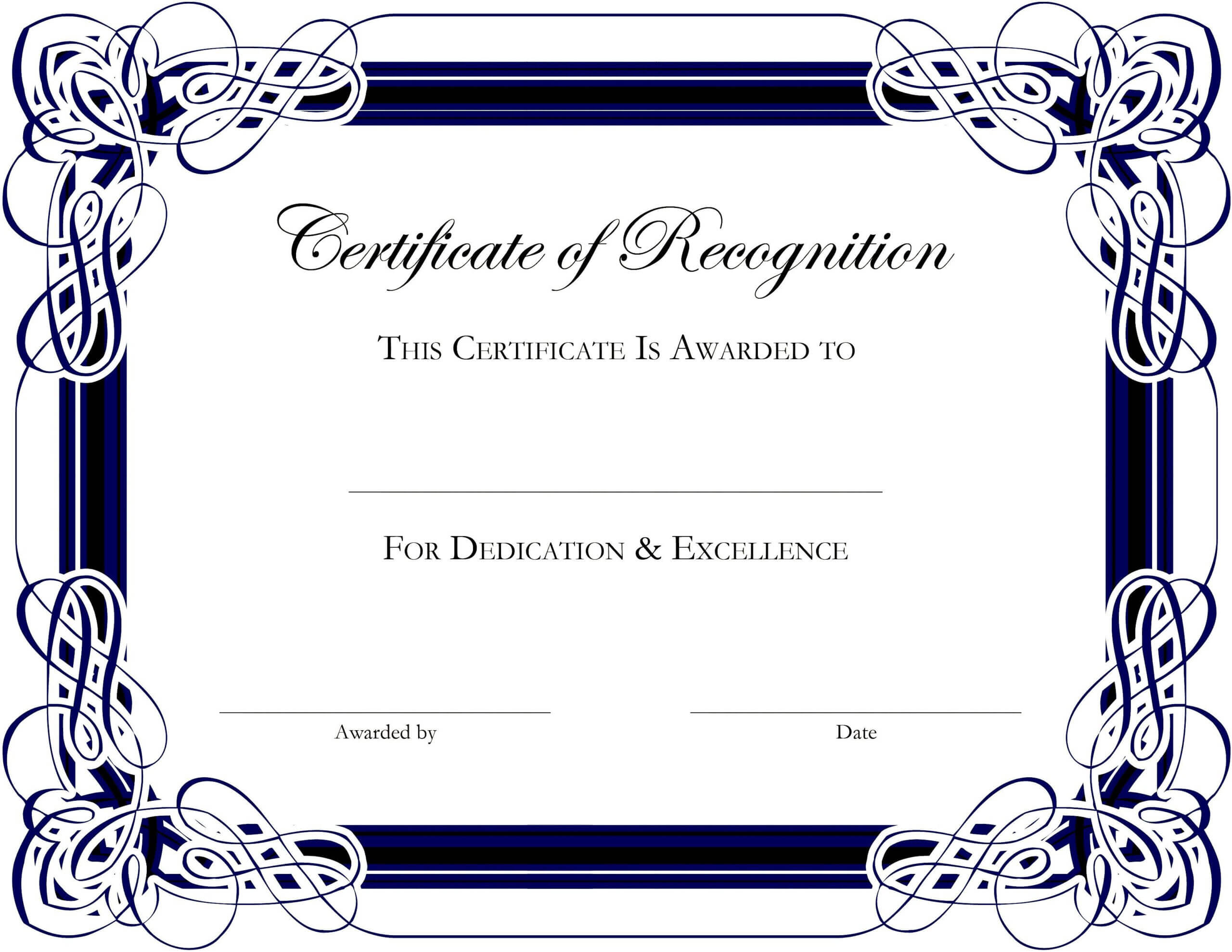 Award Templates For Microsoft Publisher | Besttemplate123 Regarding Template For Certificate Of Appreciation In Microsoft Word