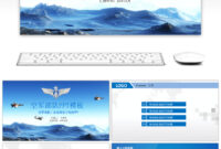 Awesome Air Force Conference Report Ppt Template For inside Air Force Powerpoint Template