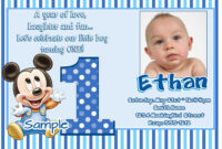 Awesome Best First Birthday Invitation Wording Designs | 1St with regard to First Birthday Invitation Card Template