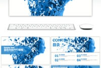 Awesome Blue High Tech Large Data Cloud Computing Ppt throughout High Tech Powerpoint Template