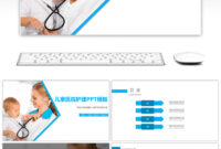 Awesome Blue Simplified Children's Hospital Nursing Ppt intended for Free Nursing Powerpoint Templates