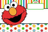 Awesome Free Printable Elmo Birthday Invitations In 2020 regarding Elmo Birthday Card Template