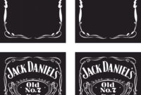 Awesome Jack Daniels Logo Generator 45 For Logos With Jack Pertaining To Blank Jack Daniels Label Template