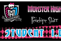 Awesome Monster High Party Games ~ Diy And Printables! for Monster High Birthday Card Template