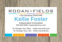 Awesome Rodan And Fields Business Cards Vistaprint inside Rodan And Fields Business Card Template