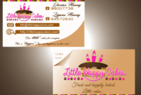 B4E8 Cake Shop Business Card Template Business Card throughout Cake Business Cards Templates Free