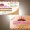 B4E8 Cake Shop Business Card Template Business Card Throughout Cake Business Cards Templates Free