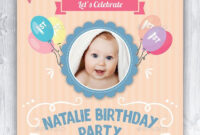 Baby Birthday Card Design Template Indesign Indd | Card inside Birthday Card Indesign Template