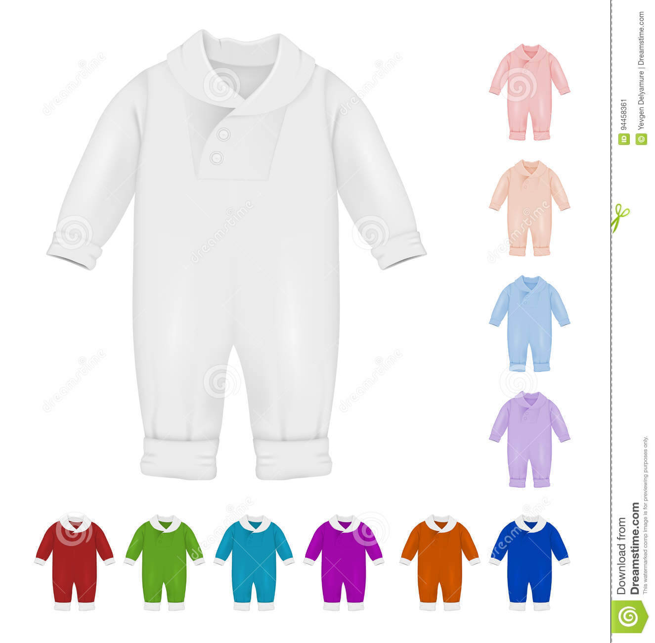 Baby Bodysuit Blank Template. Stock Vector – Illustration Of Within Blank Elephant Template