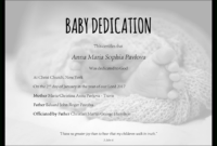 Baby Dedication Certificate Template For Word [Free Printable] intended for Baby Christening Certificate Template
