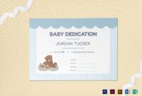 Baby Dedication Certificate Template inside Baby Dedication Certificate Template
