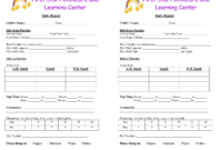 Baby Log Forms – Google Search | Infant Daily Report inside Daycare Infant Daily Report Template