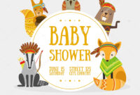 Baby Shower Banner Template With Place For Text And Cute inside Baby Shower Banner Template