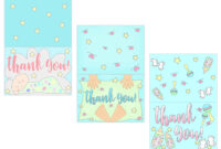 Baby Shower Thank You Cards Free Printable regarding Thank You Card Template For Baby Shower