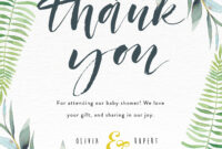 Baby Shower Thank You Cards | Paperlust within Template For Baby Shower Thank You Cards