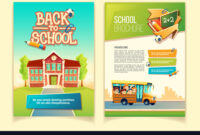 Back To School Brochure Cartoon Template with regard to School Brochure Design Templates