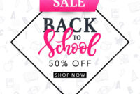 Back To School Sale Banner Template Stock Vector with College Banner Template