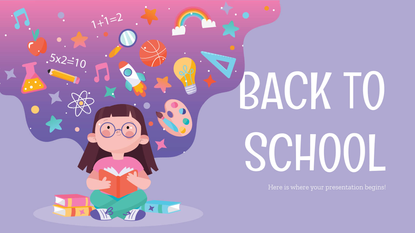Back To School Social Media - Free Presentation Template For With Regard To Back To School Powerpoint Template