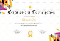 Badminton Participation Certificate Template | Certificate pertaining to Gymnastics Certificate Template
