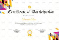 Badminton Participation Certificate Template | Certificate with regard to Basketball Camp Certificate Template