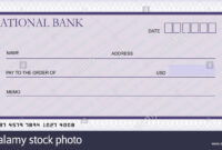 Bank Cheque Stock Photos & Bank Cheque Stock Images – Alamy with Large Blank Cheque Template