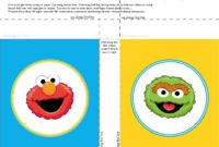 Banner Squares Elmo Oscar Sesame Street Printablepartyshop Regarding Staples Banner Template