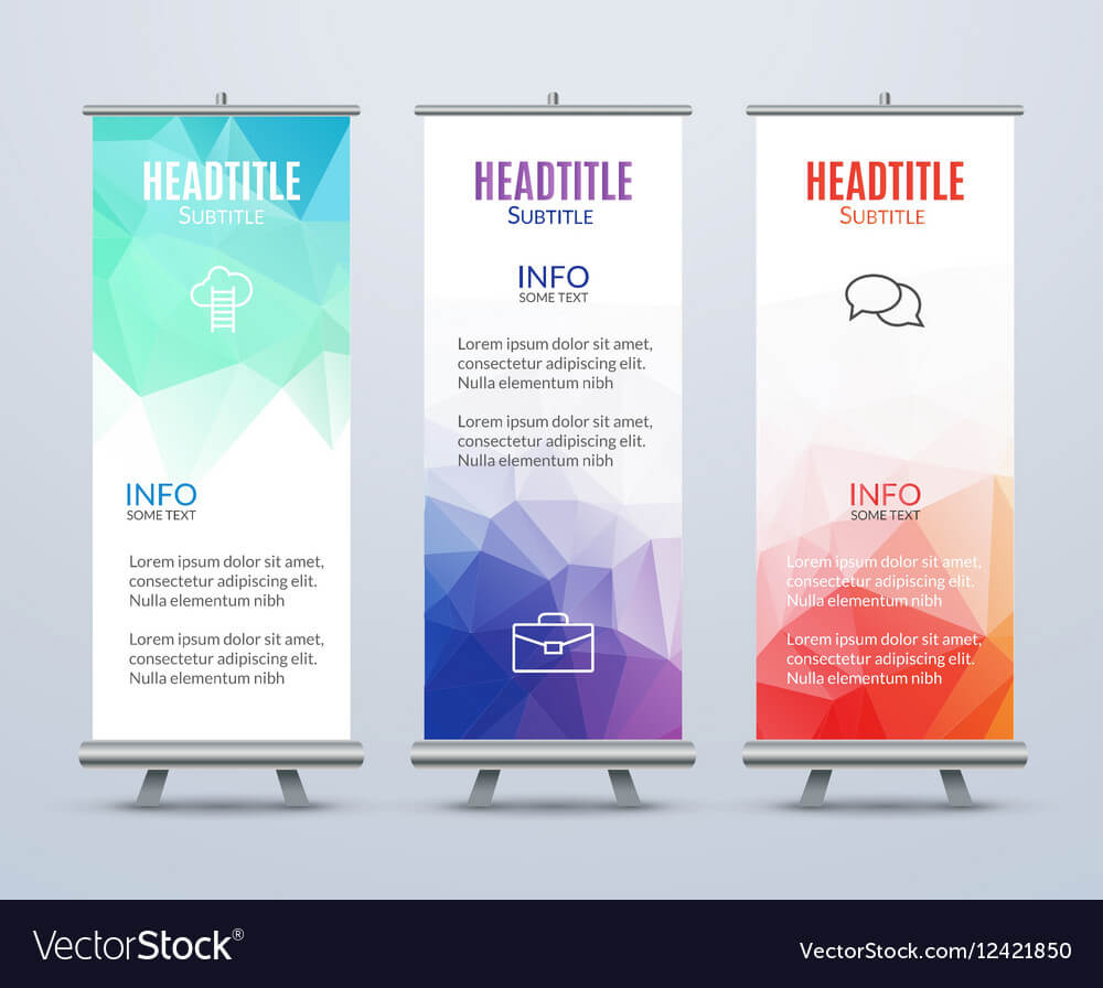 Banner Stand Design Template With Abstract Regarding Banner Stand Design Templates