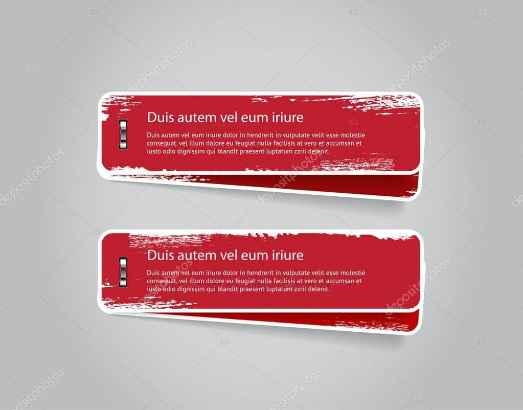 Banners With Worn Out Paint Texture, Attached With Shiny In Staples Banner Template