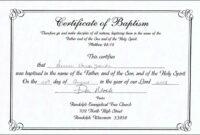Baptism Certificate Template Catholic Word Free Professional for Baptism Certificate Template Word