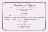 Baptism Certificate Templates For Word | Aspects Of Beauty for Baby Death Certificate Template
