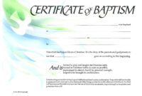Baptism Certificate Xp4Eamuz | Certificate Templates with Christian Certificate Template