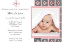 Baptism Invitation Template : Baptism Invitation Card pertaining to Free Christening Invitation Cards Templates