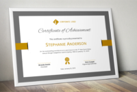 Bar Border Modern Word Event Certificate Template with regard to Design A Certificate Template