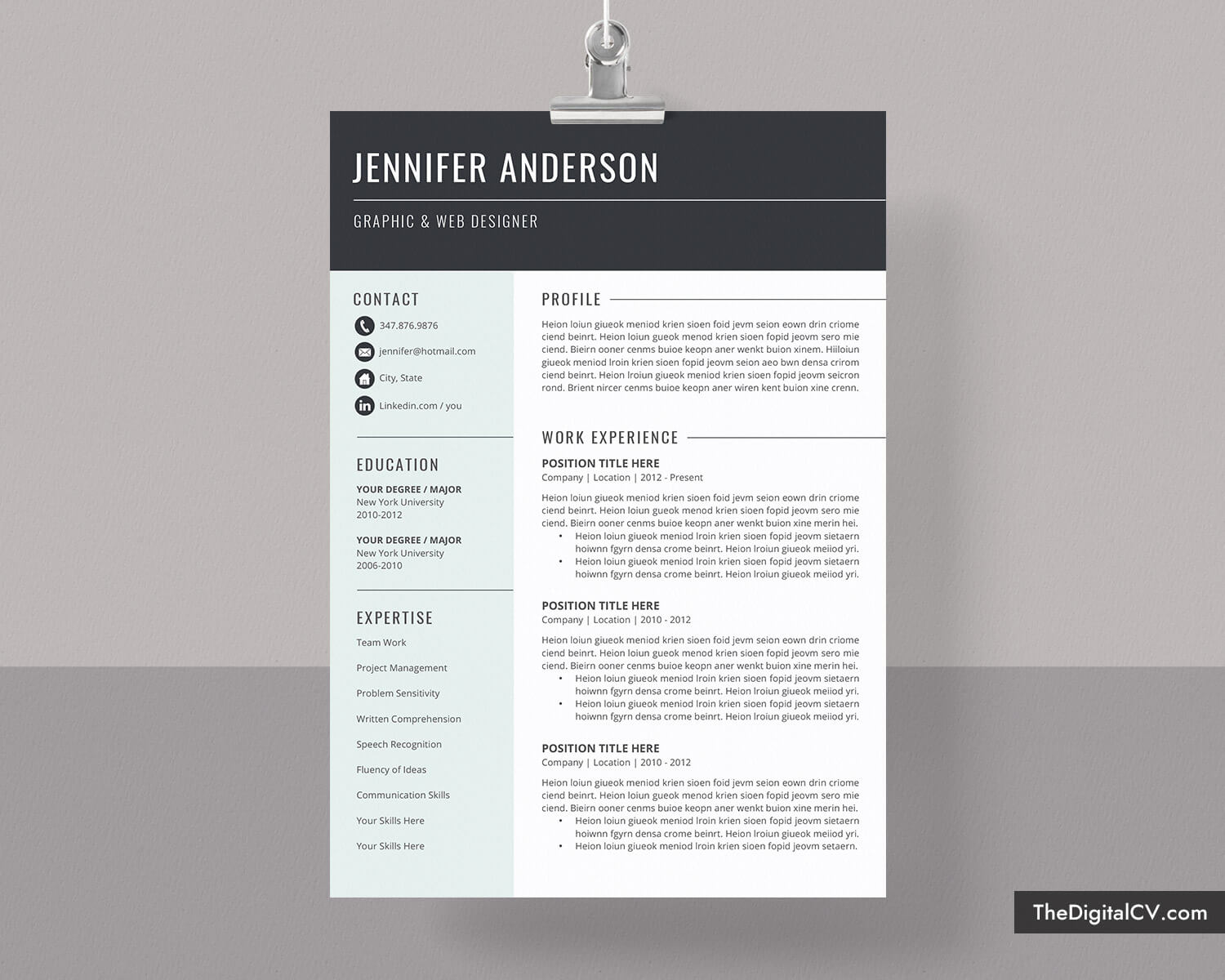 Basic And Simple Resume Template 2020 2021, Cv Template, Cover Letter,  Microsoft Word Resume Template, 1 3 Page, Modern Resume, Creative Resume, With Microsoft Word Resumes Templates