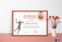 Basketball Award Achievement Certificate Template throughout Sports Award Certificate Template Word