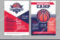 Basketball Camp Posters Flyer Basketball Ball for Basketball Camp Brochure Template