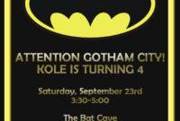 Batman Birthday Card Template – Google Search | Birthday within Superhero Birthday Card Template