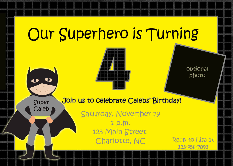 Batman Birthday Invitations Templates Ideas : Batman Within Batman Birthday Card Template