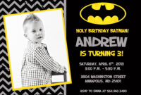 Batman Birthday Party Invitation Printable intended for Batman Birthday Card Template