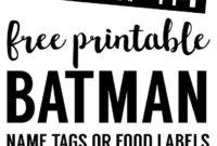 Batman Name Tags Free Printable | Batman Birthday, Birthday with Batman Birthday Card Template