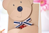 Bear Hugs! Craft This Adorable Teddy Card For Free In Three with regard to Teddy Bear Pop Up Card Template Free