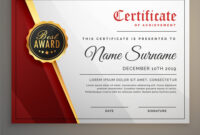 Beautiful Certificate Template Design With Best throughout Beautiful Certificate Templates